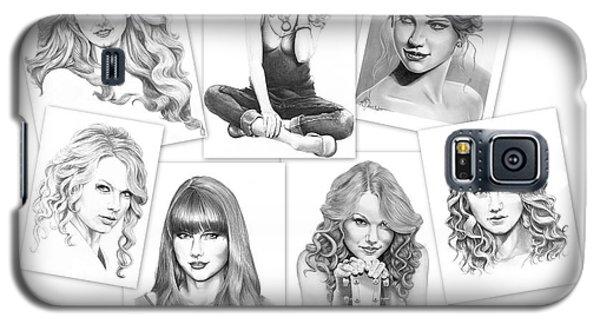 Taylor Swift Collage Galaxy S5 Case by Murphy Elliott