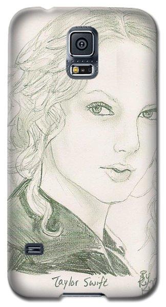 Taylor Swift Galaxy S5 Case by Renee Kilburn