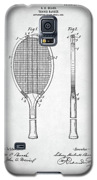 Tennis Racket Patent 1907 Galaxy S5 Case by Taylan Soyturk
