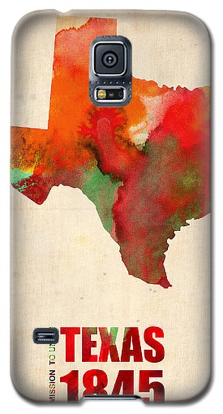 Texas Watercolor Map Galaxy S5 Case by Naxart Studio
