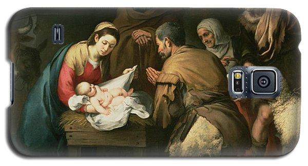 The Adoration Of The Shepherds Galaxy S5 Case by Bartolome Esteban Murillo