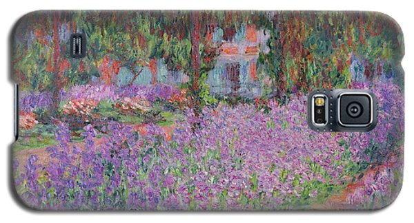 The Artists Garden At Giverny Galaxy S5 Case by Claude Monet