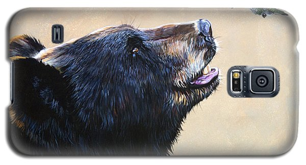 Animals Galaxy S5 Cases - The Bear and the Hummingbird Galaxy S5 Case by J W Baker