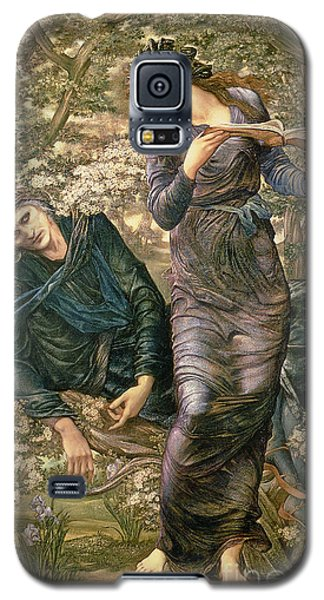 The Beguiling Of Merlin Galaxy S5 Case by Sir Edward Burne-Jones