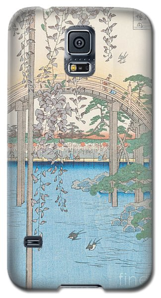The Bridge With Wisteria Galaxy S5 Case by Hiroshige