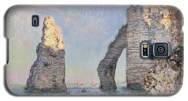 The Cliffs At Etretat Galaxy S5 Case by Claude Monet
