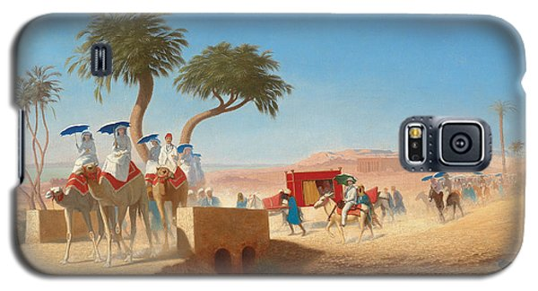 The Empress Eugenie Visiting The Pyramids Galaxy S5 Case by Charles Theodore Frere