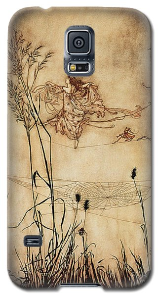 The Fairy's Tightrope From Peter Pan In Kensington Gardens Galaxy S5 Case by Arthur Rackham