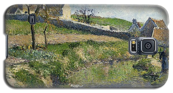 The Farm At Osny Galaxy S5 Case by Camille Pissarro