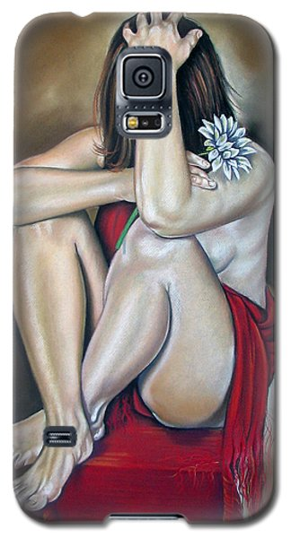 Nudes Galaxy S5 Cases - The flower Galaxy S5 Case by Ilse Kleyn