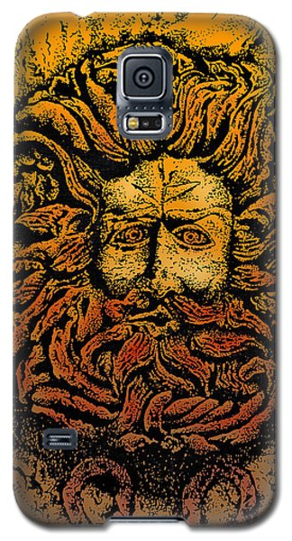 The Gorgon Man Celtic Snake Head Galaxy S5 Case by Larry Butterworth