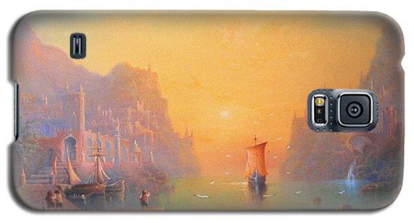 The Grey Havens. The Gulls Lament.  Oil On Canvas Galaxy S5 Case by Joe  Gilronan