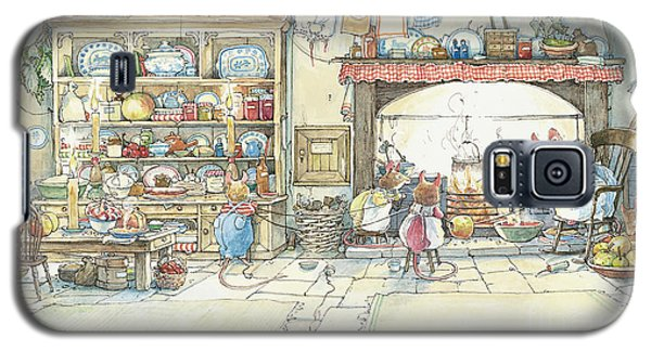 The Kitchen At Crabapple Cottage Galaxy S5 Case by Brambly Hedge