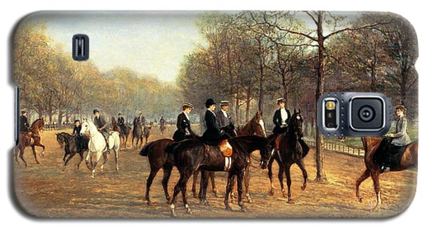 The Morning Ride Rotten Row Hyde Park Galaxy S5 Case by Heywood Hardy