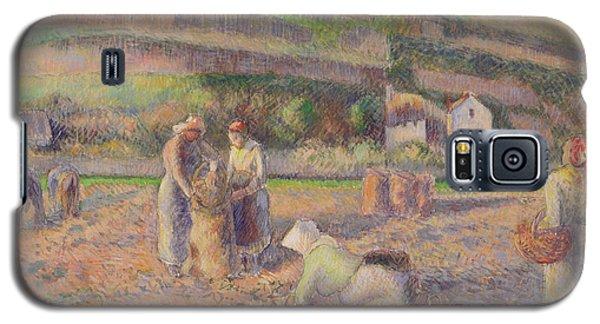 The Potato Harvest Galaxy S5 Case by Camille Pissarro