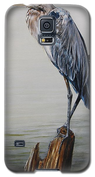 The Sentinel - Portrait Of A Great Blue Heron Galaxy S5 Case by Rob Dreyer AFC