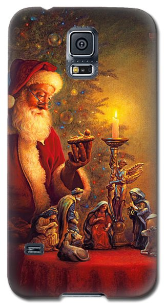 Best Sellers -  - Galaxy S5 Cases - The Spirit of Christmas Galaxy S5 Case by Greg Olsen