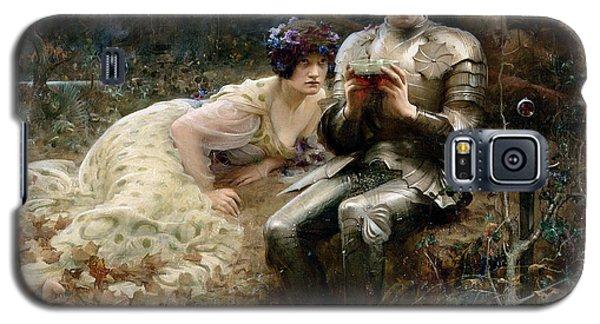 The Temptation Of Sir Percival Galaxy S5 Case by Arthur Hacker