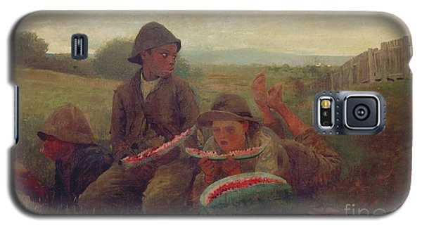 The Watermelon Boys Galaxy S5 Case by Winslow Homer