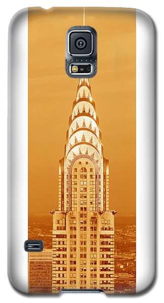 Chrysler Building At Sunset Galaxy S5 Case by Panoramic Images