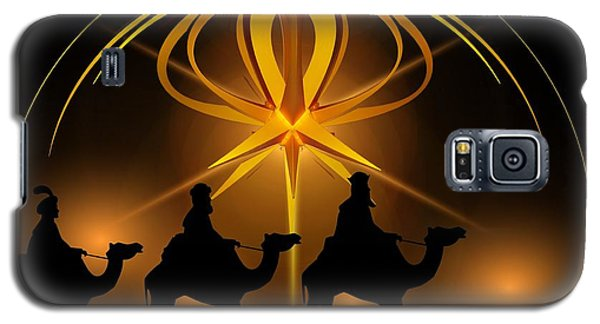 Three Wise Men Christmas Card Galaxy S5 Case by Bellesouth Studio