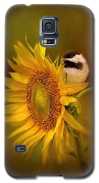 Tiny Surprise Bird Art Galaxy S5 Case by Jai Johnson