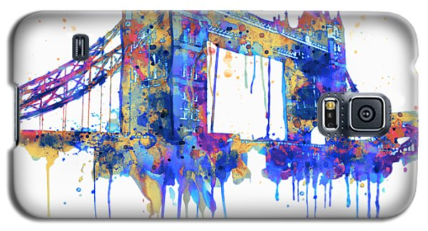 Tower Bridge Watercolor Galaxy S5 Case by Marian Voicu