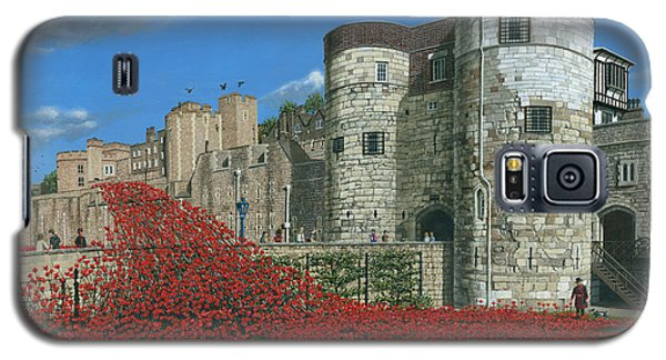 Tower Of London Poppies - Blood Swept Lands And Seas Of Red  Galaxy S5 Case by Richard Harpum