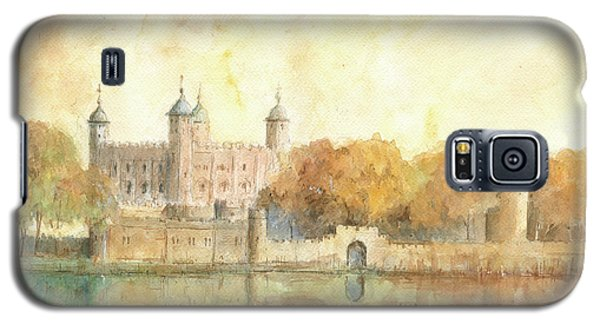 Tower Of London Watercolor Galaxy S5 Case by Juan Bosco