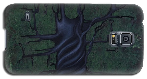 Paintings Galaxy S5 Cases - Tree of Secrets Galaxy S5 Case by Kelly Jade King