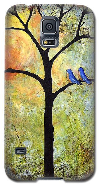 Bird Galaxy S5 Cases - Tree Painting Art - Sunshine Galaxy S5 Case by Blenda Studio
