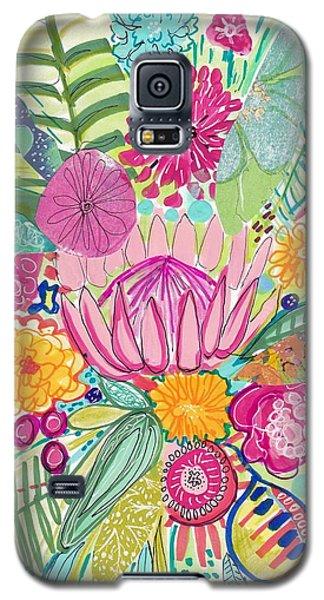 Tropical Foliage Galaxy S5 Case by Rosalina Bojadschijew