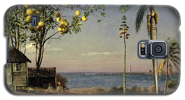 Tropical Scene Galaxy S5 Case by Albert Bierstadt
