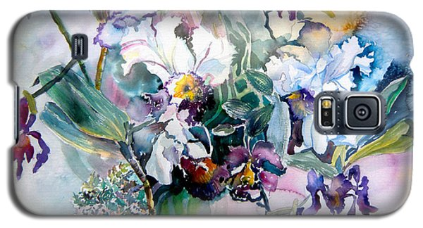 Tropical White Orchids Galaxy S5 Case by Mindy Newman