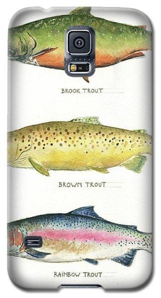 Trout Species Galaxy S5 Case by Juan Bosco