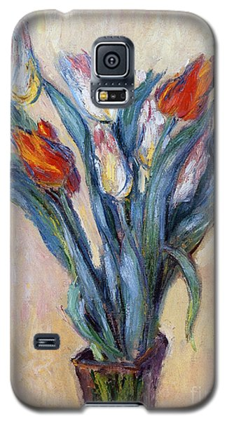 Tulips Galaxy S5 Case by Claude Monet