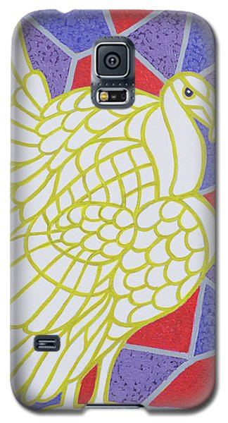 Turkey On Stained Glass Galaxy S5 Case by Pat Scott