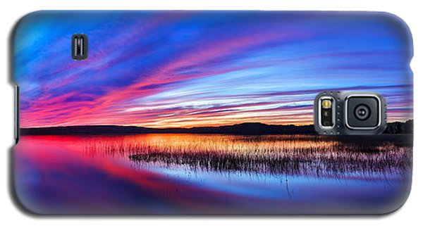 Buy Galaxy S5 Cases - Twilight Burn Panorama Galaxy S5 Case by Bill Caldwell -        ABeautifulSky Photography
