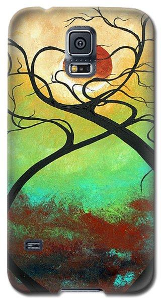 Twisting Love II Original Painting By Madart Galaxy S5 Case by Megan Duncanson