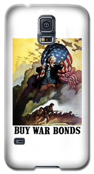 Landmarks Galaxy S5 Cases - Uncle Sam Buy War Bonds Galaxy S5 Case by War Is Hell Store