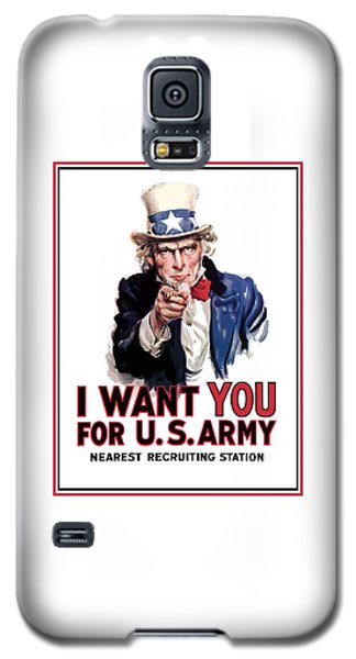 Landmarks Galaxy S5 Cases - Uncle Sam -- I Want You Galaxy S5 Case by War Is Hell Store