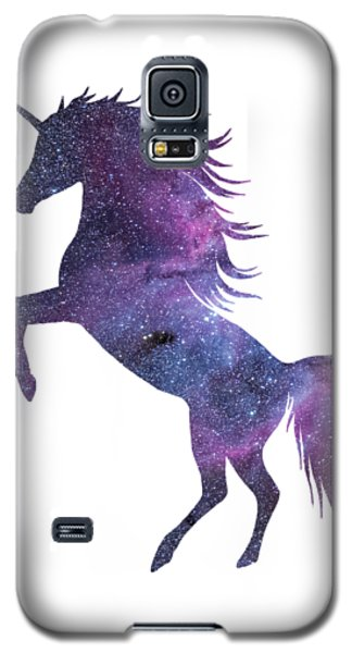 Unicorn In Space-transparent Background Galaxy S5 Case by Jacob Kuch
