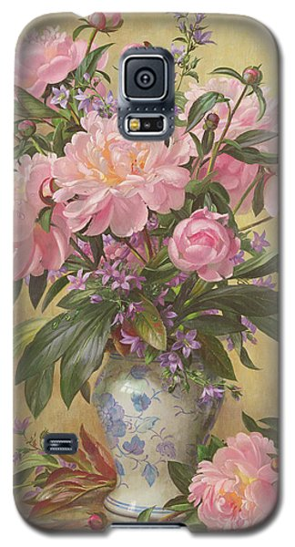 Vase Of Peonies And Canterbury Bells Galaxy S5 Case by Albert Williams