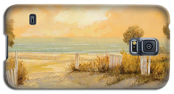 Seascape Galaxy S5 Cases - Verso La Spiaggia Galaxy S5 Case by Guido Borelli