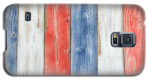 Vertical Stressed Boards Painted In Usa National Colors Galaxy S5 Case by Thomas Baker