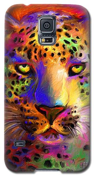 Vibrant Leopard Painting Galaxy S5 Case by Svetlana Novikova