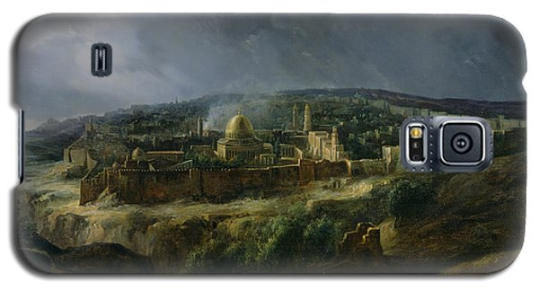 View Of Jerusalem From The Valley Of Jehoshaphat Galaxy S5 Case by Auguste Forbin