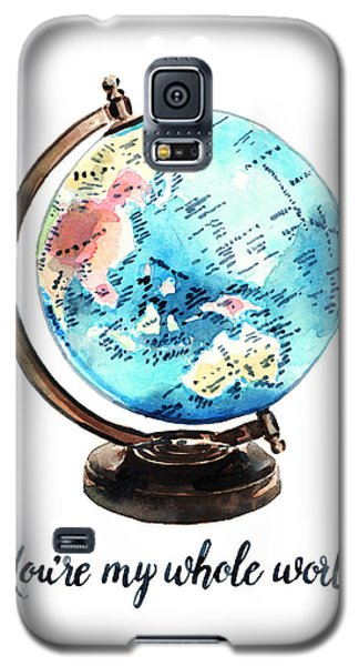 Vintage Globe Love You're My Whole World Galaxy S5 Case by Laura Row
