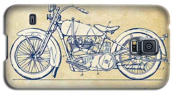 Vintage Harley-davidson Motorcycle 1928 Patent Artwork Galaxy S5 Case by Nikki Smith