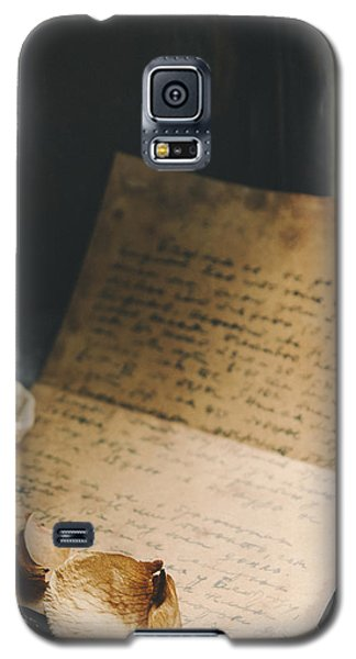 Pyrography Galaxy S5 Cases - Vintage Letters Galaxy S5 Case by Jelena Jovanovic